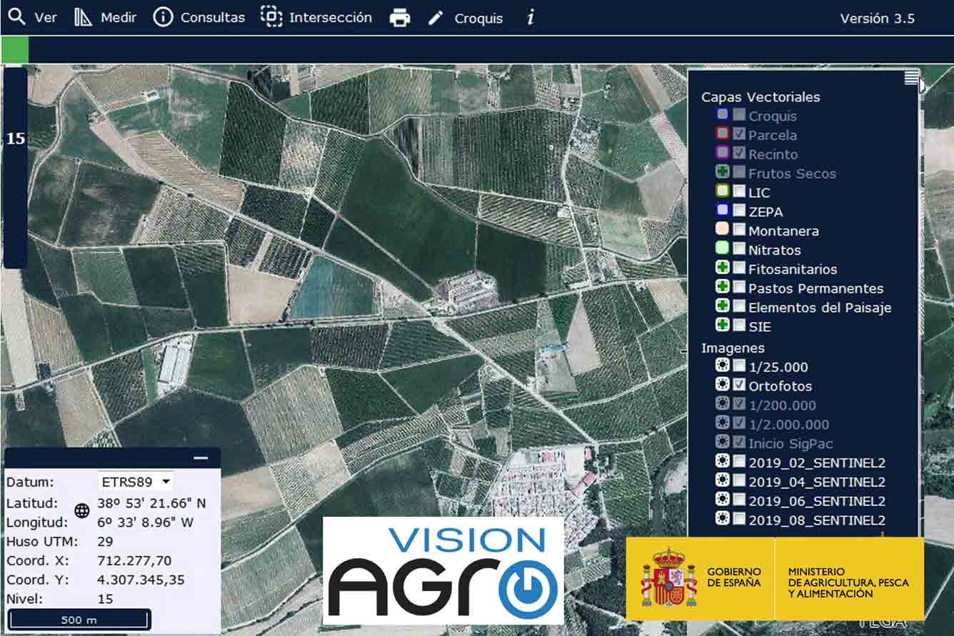 El Ministerio de Agricultura actualiza el acceso móvil al SIGPAC